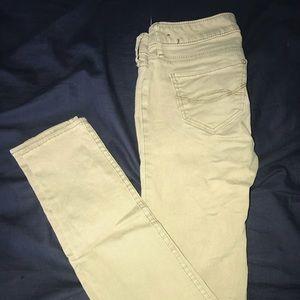 Abercrombie kids khaki skinny jeans
